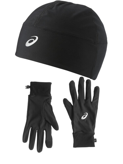 asics Performance Pack - Guantes largos - Gloves and Beanie negro